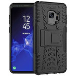 Dual Layer Rugged Tough Case for Samsung Galaxy S9 - Black